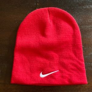 NWOT Nike Red Knit Hat